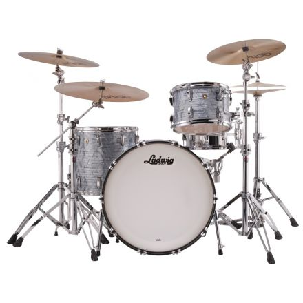 Ludwig Classic Maple Pro Beat Drum Set Sky Blue Pearl
