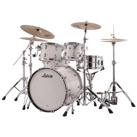 Ludwig Classic Maple Mod Drum Set White Marine Pearl