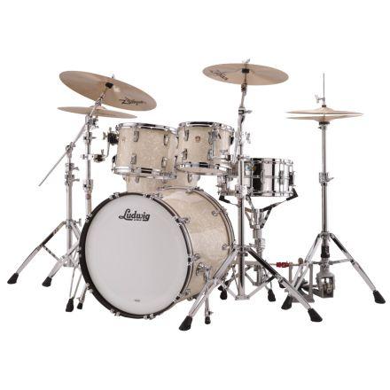 Ludwig Classic Maple Mod Drum Set Vintage White Marine