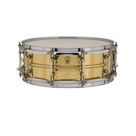 Ludwig Supraphonic Brass Hammered Snare Drum w/ Tube Lugs 5x14