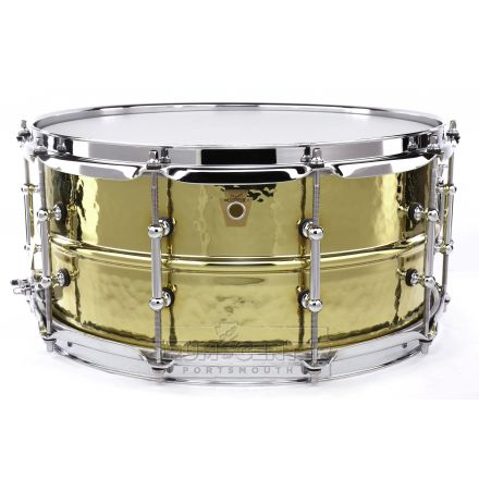 Ludwig Supraphonic Brass Hammered Snare Drum w/ Tube Lugs 6.5x14