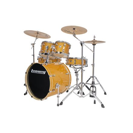 Ludwig Element Evolution 6pc Drum Set with Zildjian I Series Cymbals - 22 Set - Gold Sparkle