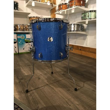 Ludwig Element Evolution Floor Tom 14x14 Blue Sparkle