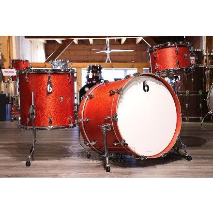 British Drum Company Legend Series Club 3pc Drum Set 13/16/24 - Buckingham Scarlet