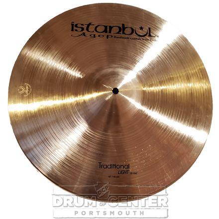 "Istanbul Agop Traditional Light Hi Hat Cymbals 16"" 1061/1289 grams"
