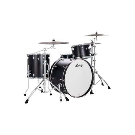 Ludwig 24 Neusonic Pro Beat Drum Set Black Velvet w/Elite Spurs
