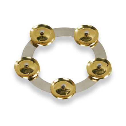 LP Latin Percussion LP3806SBS 6-inch Tambo-ring - Stainless Steel With Brass Jingles