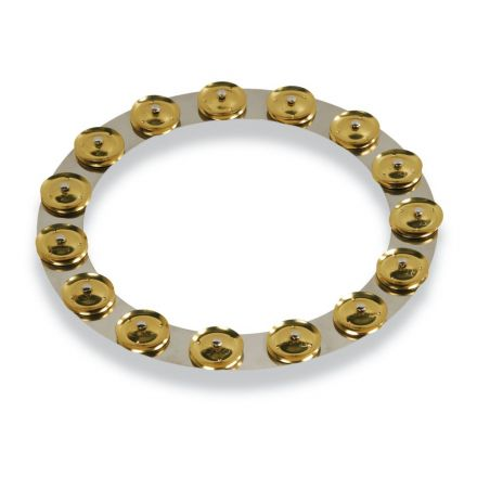 LP Latin Percussion LP3814SBS 14-inch Tambo-ring - Stainless Steel With Brass Jingles