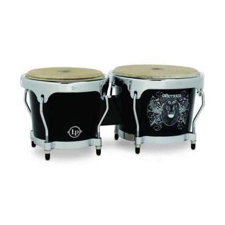 Latin Percussion LP Aspire LPA602SNL Bongo Set Santana IV Art with Chrome Hw