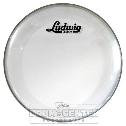 "Ludwig Bass Drum Logo Head : 22"" Powerstroke 3 Clear w/ Script Logo"