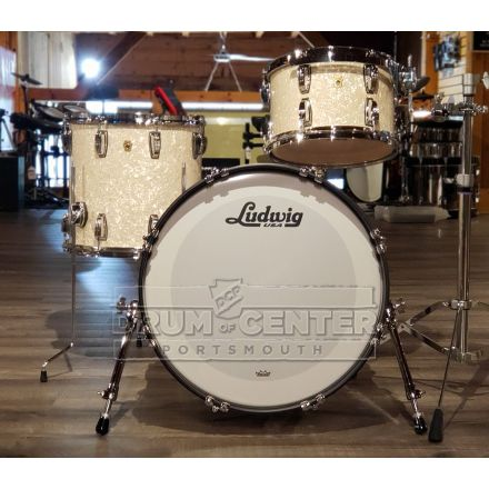 Ludwig Legacy Mahogany 3pc Drum Set Vintage White Marine