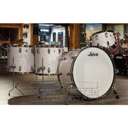 Ludwig Legacy Mahogany 4pc Bonham Drum Set - White Marine Pearl