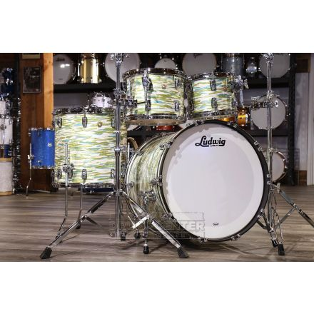 Ludwig Classic Maple Mod Drum Set Blue/Olive Oyster Pearl