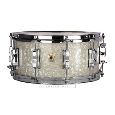 Ludwig Classic Maple Snare Drum - 14x6.5 - Vintage White Marine