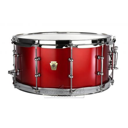 Ludwig Classic Maple Snare Drum with Tube Lugs - Diablo Red