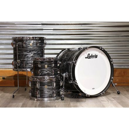 Ludwig Classic Maple 4pc 20/10/12/14 Drum Set Vintage Black Oyster