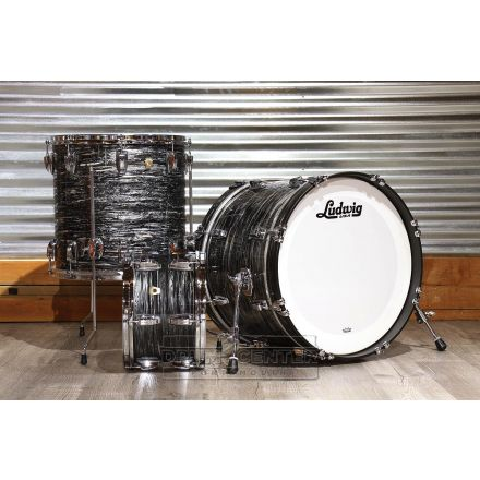 Ludwig Classic Maple 3pc 20/12/16 Drum Set Vintage Black Oyster