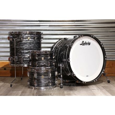 Ludwig Classic Maple 4pc 22/10/12/16 Drum Set Vintage Black Oyster