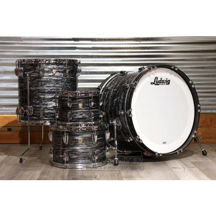 Ludwig Classic Maple 4pc 22/10/13/16 Drum Set Vintage Black Oyster
