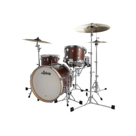 Ludwig Legacy Mahogany 3pc Downbeat Drum Set Vintage Mahogany