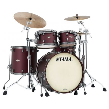 Tama Starclassic Maple 4pc Drum Set - 22/10/12/16 - Flat Burgundy Metallic
