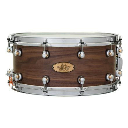 Pearl Music City Custom Solid Walnut 14x6.5 Snare Drum - Hand-Rubbed Natural