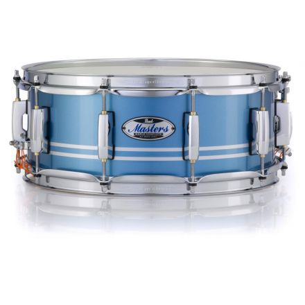 Pearl Masters Maple Complete 14x5.5 Snare Drum - Light Blue Metallic