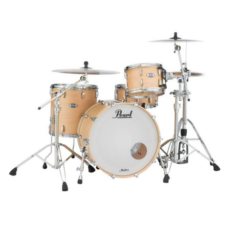 """Pearl Masters Maple Complete 22""""x16"""" Bass Drum - Matte Natural Maple"""