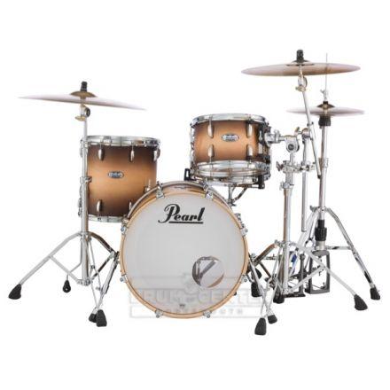 Pearl Masters Maple Complete 3pc Drum Set 20/12/14 Satin Natural Burst