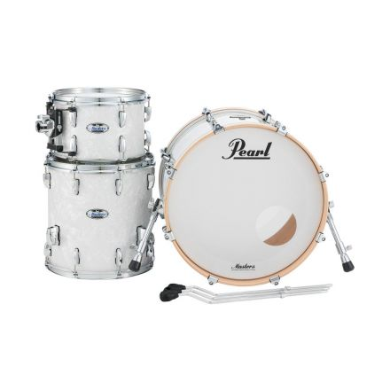Pearl Masters Maple Complete 3pc Shell Pack w/22bd - White Marine Pearl