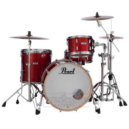 Pearl Masters Maple Complete 3pc Drum Set 22/12/16 Vermilion Sparkle Lacquer