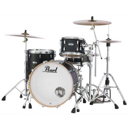 Pearl Masters Maple Complete 3pc Drum Set 22/12/16 Matte Black Mist