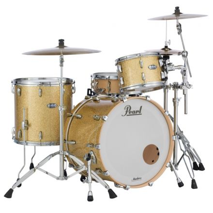Pearl Masters Maple Complete 3pc Drum Set 22/12/16 Bombay Gold Sparkle Lacquer