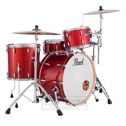 Pearl Masters Maple Complete 3pc Drum Set 24/13/16 Vermilion Sparkle Lacquer
