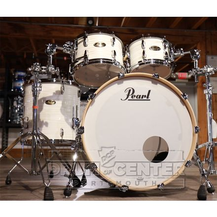 Pearl Masters Maple/Gum 4pc Drum Set - 22/10/12/16 - Silver White Swirl