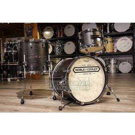 Noble And Cooley Union 3pc Drum Set Blackwash Matte w/Chrome Hardware
