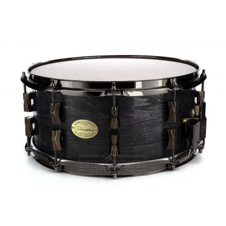 Noble And Cooley CD Maple Snare Drum 14x6.5 Blackwash Oil w/Black Hw