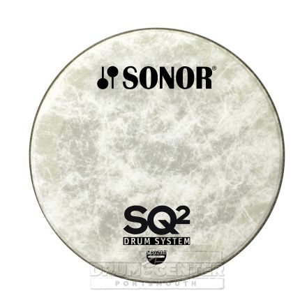"""Sonor Bass Drum Logo Head 18"""" Natural for SQ2"""