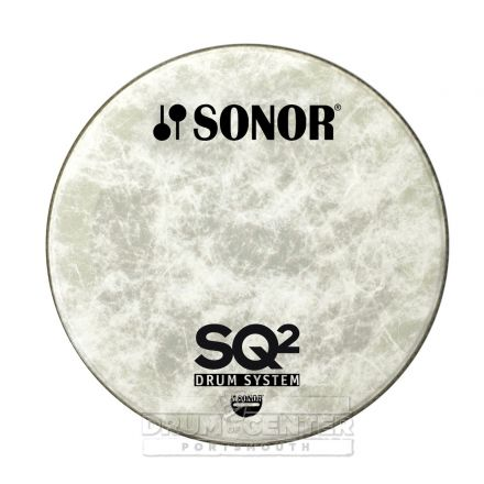 Sonor Bass Drum Logo Head 24 Natural w/ SQ2 Logo