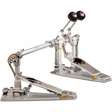 Pearl Demon Drive Double Pedal With Case - Chain Drive