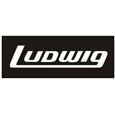 Ludwig White Bass Drum Logo Decal - Block Logo 2x5.5