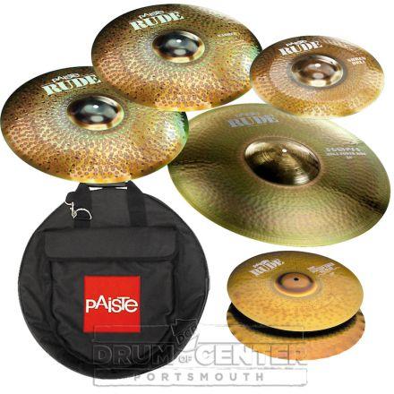 "Paiste Rude ""Basher"" Cymbal Set w/ Bag"