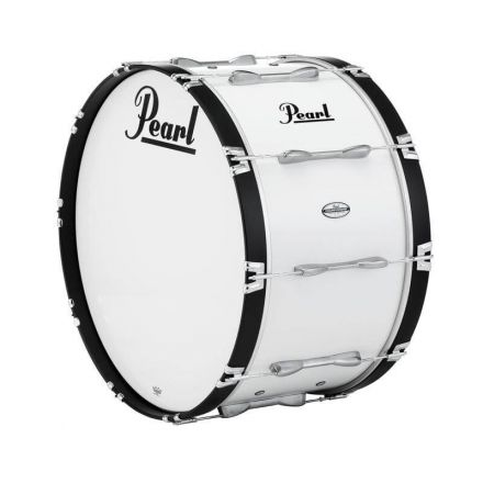 Pearl Marching Percussion: 30X16 Championship Maple Marching Bass Drum #33 - Pure White