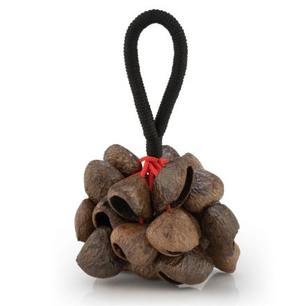 Pearl Pangi Nut Shaker With Rope Handle