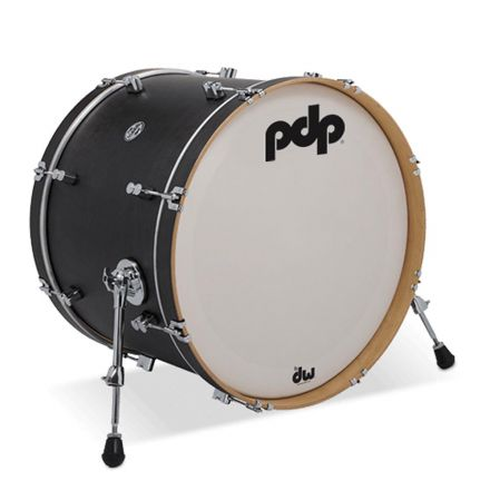 PDP Concept Maple Classic Wood Hoop Drums : 22x16 Bass Drum Ebony Stain