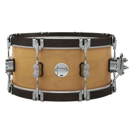 PDP Concept Maple Classic Snare Drum 14x6.5 - Natural/Walnut Hoops
