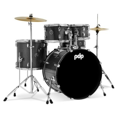PDP Centerstage 5pc Rock Drum Set w/Cymbals - Silver Sparkle