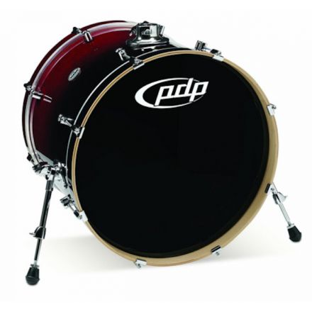 PDP Concept Maple : Red To Black Fade - Chrome Hardware 18X22