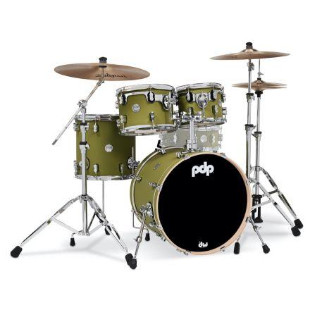 PDP Concept Maple 4pc Drum Set - Satin Olive
