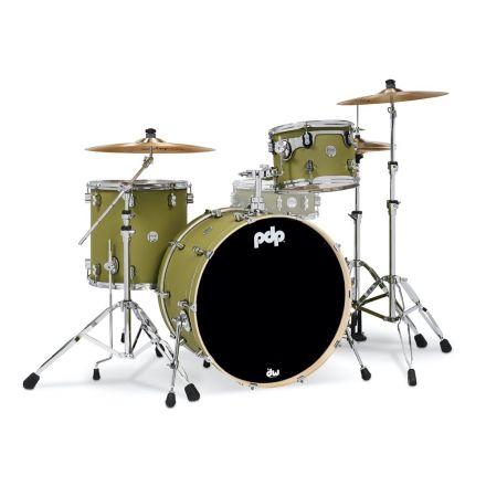 PDP Concept Maple 3pc Rock Drum Set - Satin Olive